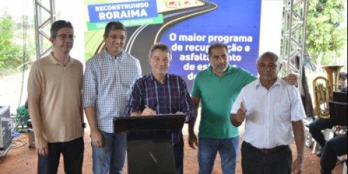 REFORÇO NO TURISMO  Governador assina ordem de serviço para recuperação da estrada do Tepequém